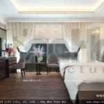Phòng ngủ khách sạn thoáng và rộng sh ks 0022
