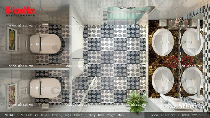 Thiết kế khu vệ sinh dành riêng cho nữ giới tại khách sạn mini 2 sao cao cấp