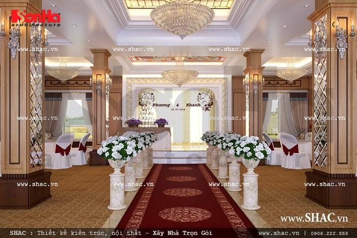 Sân khẩu tổ chức tiệc cưới tầng 3 sh bck 0034