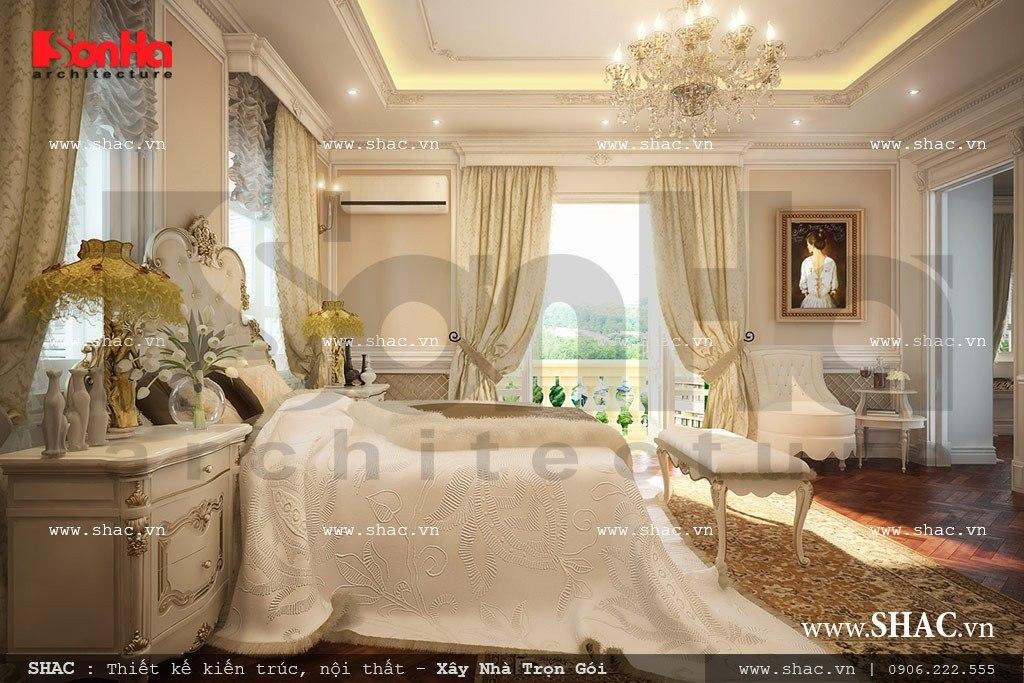Thiết kế nội thất phòng ngủ kiểu pháp ấn tượng sh btp 0065