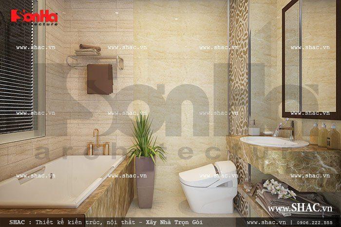 Thiết bị nội thất phòng vệ sinh của khách sạn tiêu chuẩn 3 sao sang trọng, cao cấp phục vụ mọi nhu cầu sinh hoạt của Quý khách