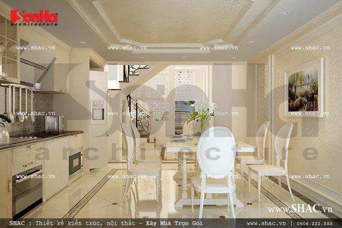 Không gian bếp ăn mang phong cách pháp sh nop 0082