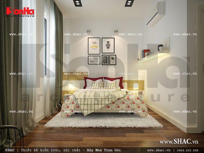 Phòng ngủ đơn giản và ấm áp sh nop 0082
