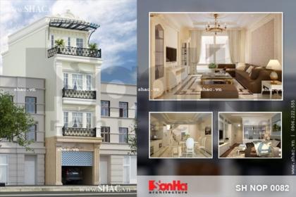 Thiết kế nhà phố tân cổ điển đẹp sh nop 0082