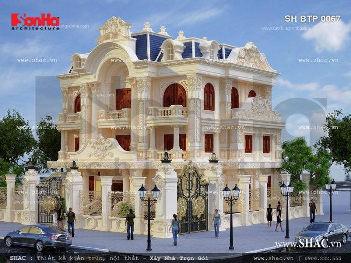 Kiến trúc cổ điển sang trọng và đẳng cấp của mẫu thiết kế biệt thự kiểu Pháp 3 tầng ấn tượng tại Quảng Ninh