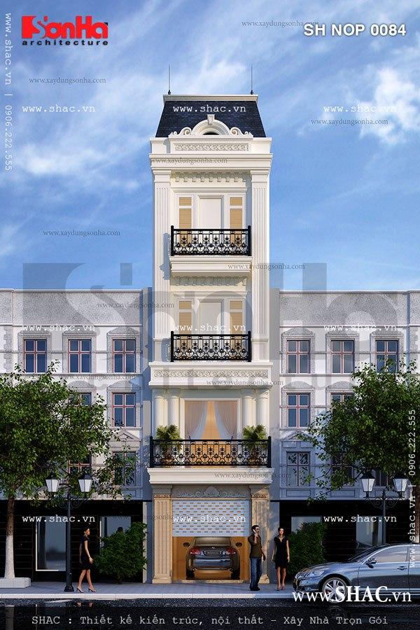 Ý tưởng thiết kế được đánh giá cao của mẫu nhà ống 4 tầng kiến trúc Pháp tiện nghi
