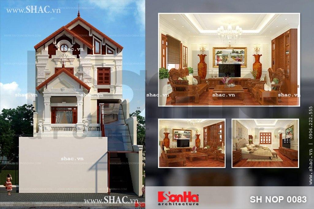 Thiết kế nhà phố kiến trúc Pháp với nội thất gỗ đẳng cấp, thiet ken ha pho kien truc Phap voi noi that go dang cap