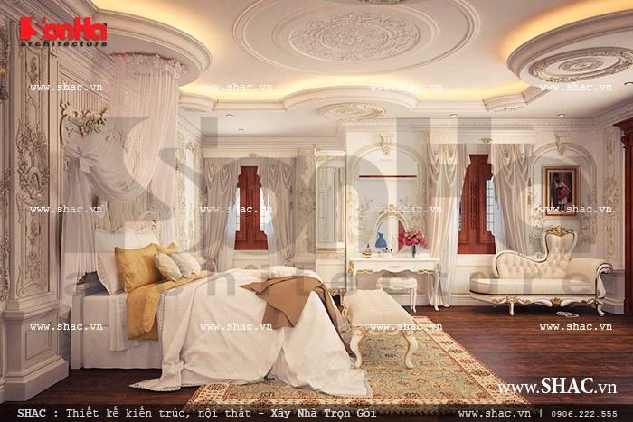 thiết kế phòng ngủ kiểu cổ điển cho biệt thự