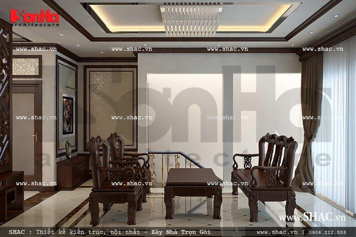 Phòng khách đơn giản sh nop 0085