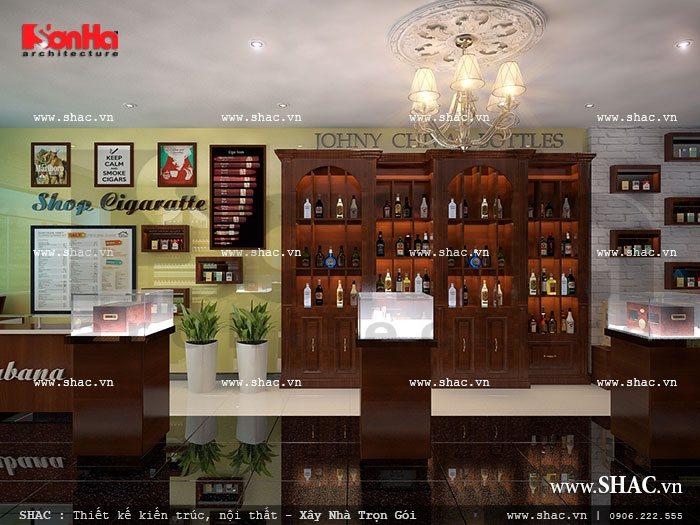 Shop kinh doanh rượu ngoại sang trọng sh sr 0015