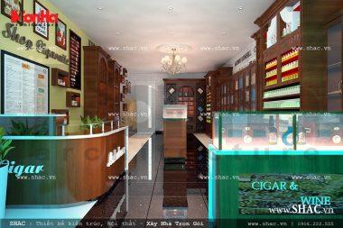 Thiết kế cửa hàng kinh doanh rượu và thuốc lá sh sr 0015
