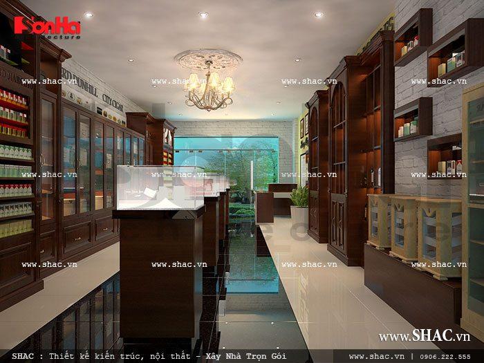 Thiết kế nội thất phù hợp với mặt hàng kinh doanh sh sr 0015