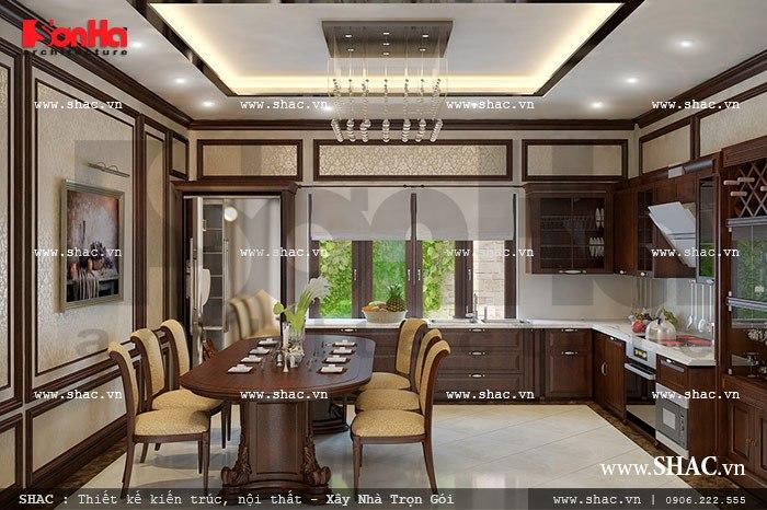 Thiết kế phòng ăn đẹp theo phong cách cổ điển sh nop 0085