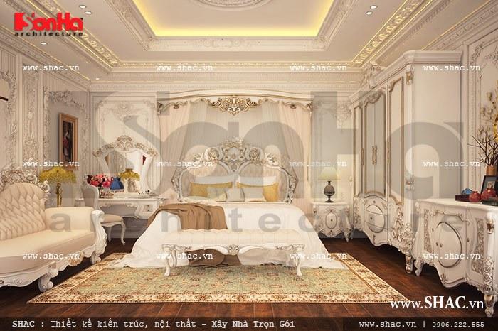 Thiết kế phòng ngủ phong cách pháp lãng mạn sh btp 0067