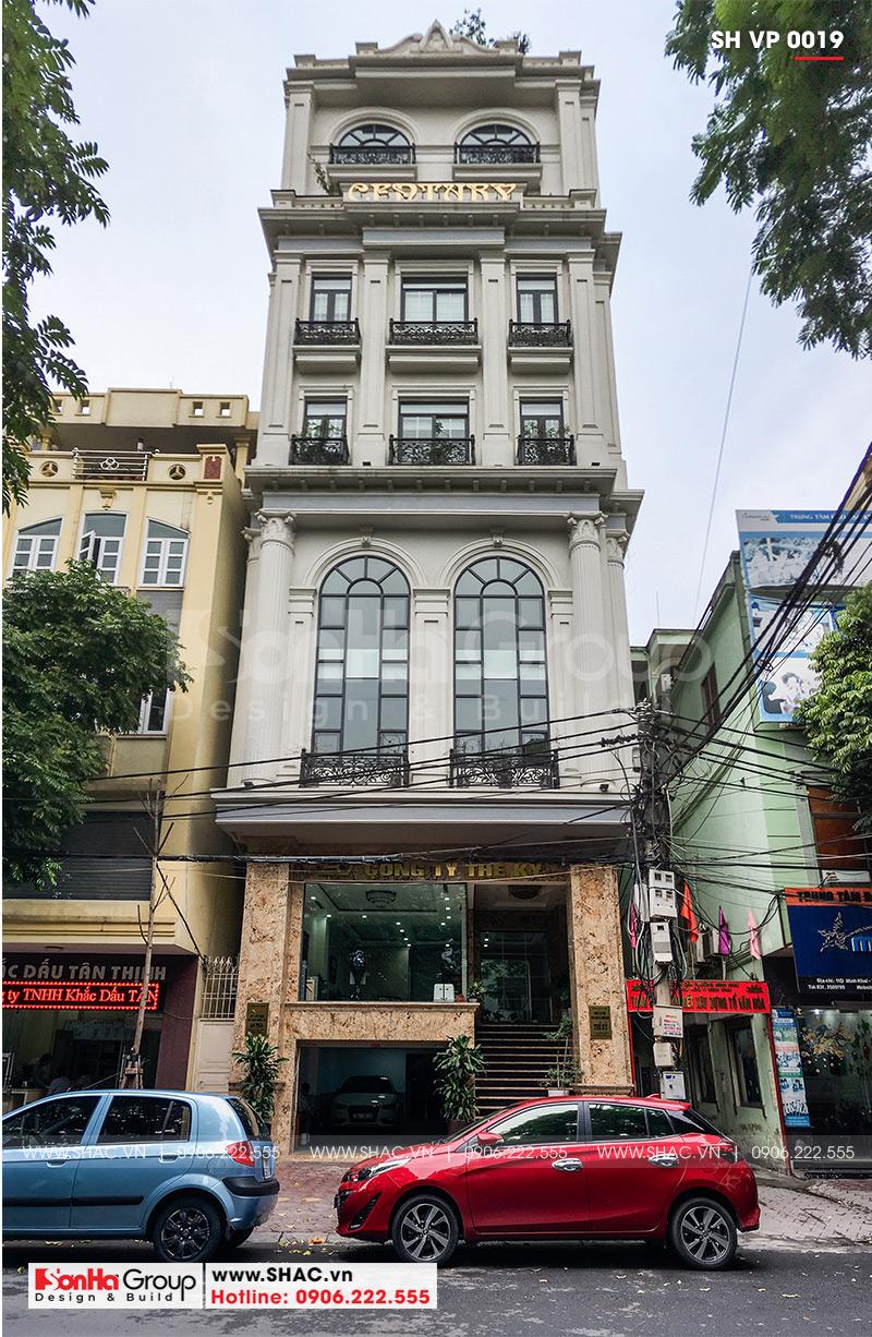 1 Ảnh thực tế tòa nhà văn phòng kiến trúc pháp tại hải phòng sh vp 0019