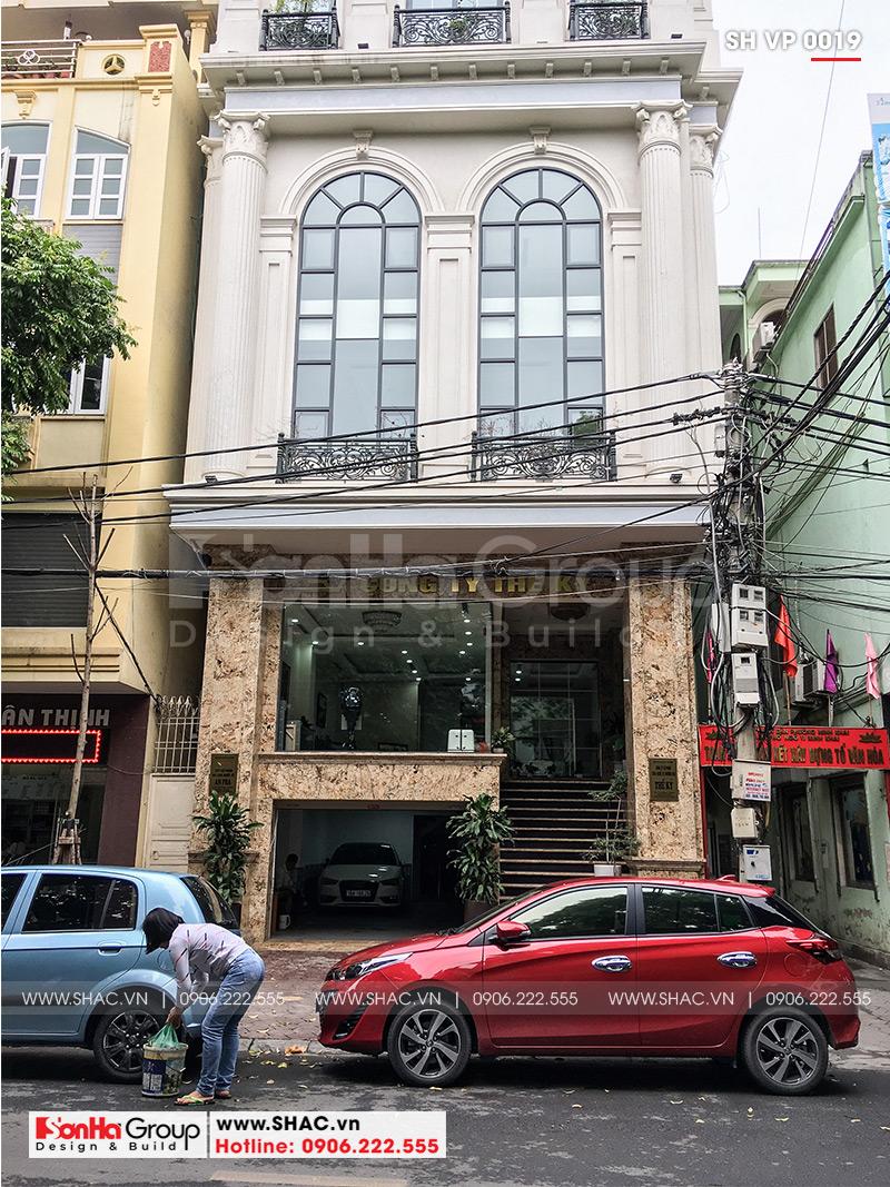 2 Ảnh thực tế tòa nhà văn phòng 8 tầng tại hải phòng sh vp 0019
