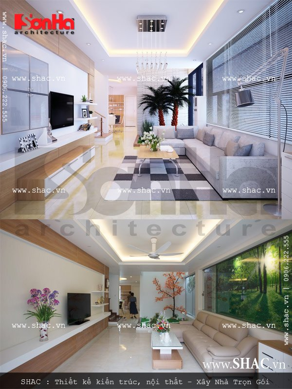 thiết kế thi công trọn gói nội thất biệt thự hiện đại tại nam định