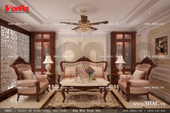 Bộ sofa phòng khách Pháp