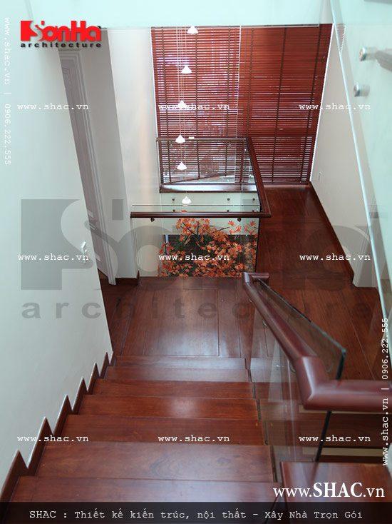 Cầu thang đẹp cho biệt thự đẹp sh btd 0029