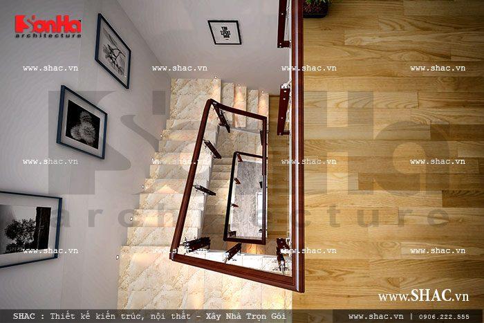 Tổng quan phương án thiết kế mẫu cầu thang của nhà ống kiến trúc hiện đại tiện nghi