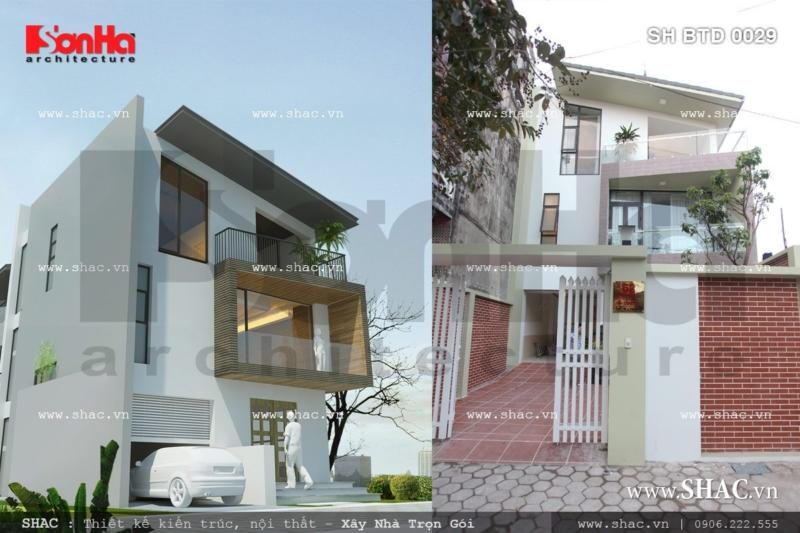 Hình ảnh thực tế công trình trước và sau khi thi công sh btd 0029