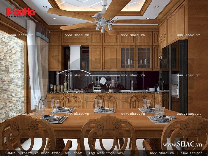 Không gian bếp ăn ấm cúng sh nop 0088