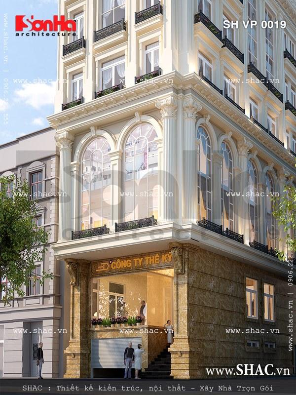 Kiến trúc pháp đẹp và sang trọng của tòa nhà sh vp 0019