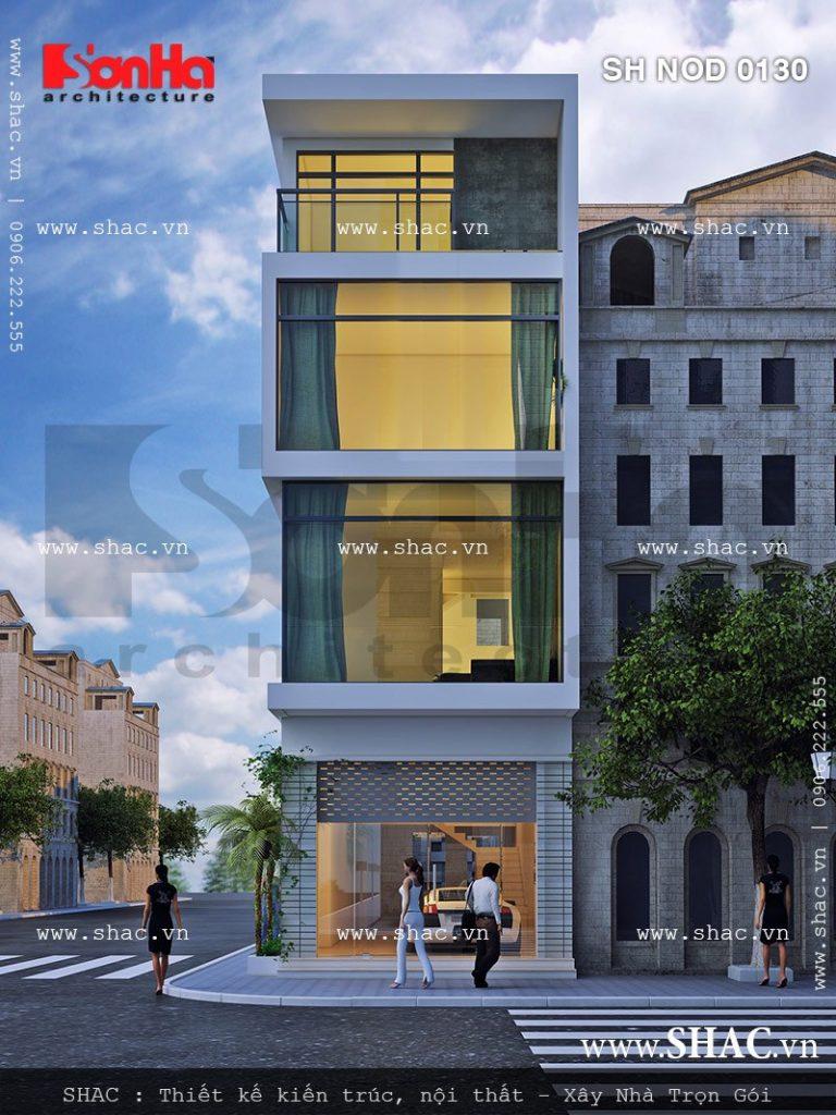 Ý tưởng thiết kế kiến trúc nhà ống 4 tầng mặt tiền 5m hiện đại giản dị nhưng đẹp mắt