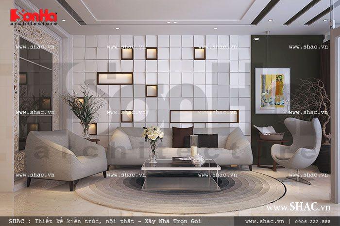 Nội thất phòng khách hiện đại và trẻ trung sh nod 0131