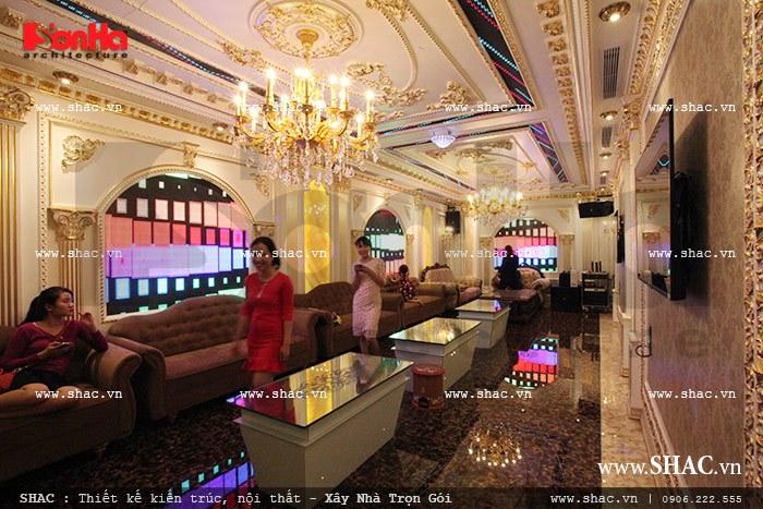 Phòng hát được đầu tư trang trí nội thất sh btld 0012