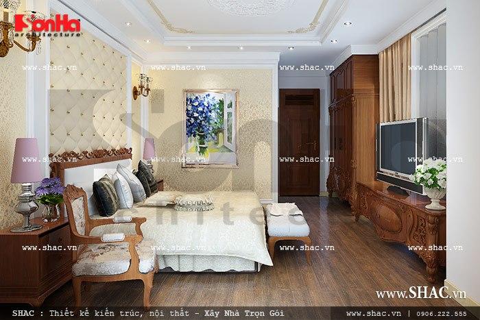 Trải nghiệm mẫu thiết kế nội thất phòng ngủ biệt thự lâu đài cao cấp, đầy đủ tiện nghi