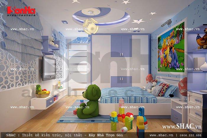 Phòng ngủ ngộ nghĩnh dành cho trẻ nhỏ sh nod 0131