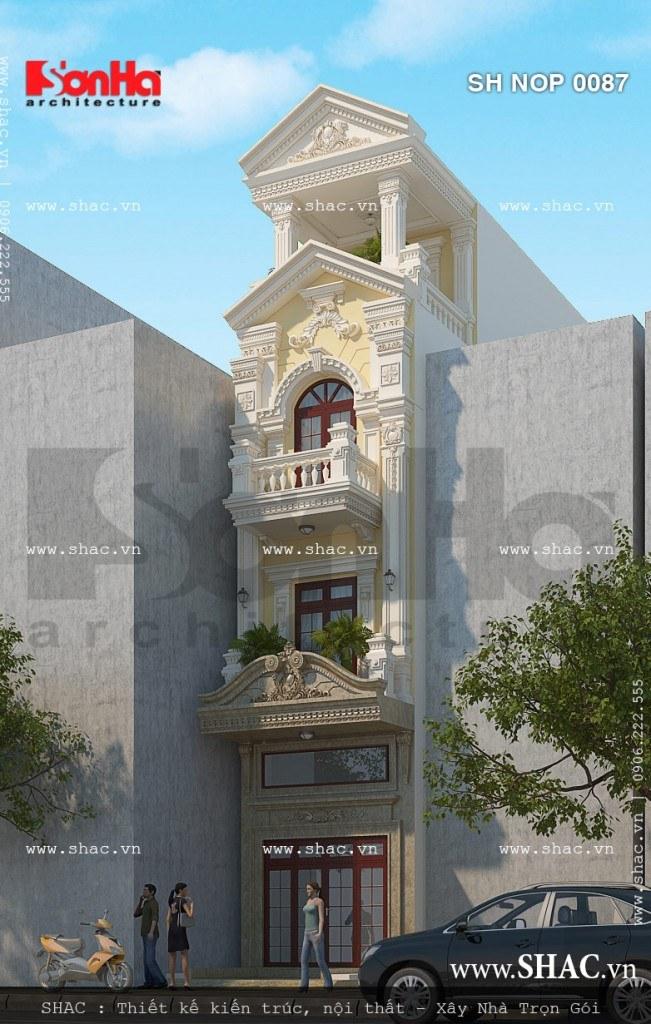 Thiết kế nhà ống diện tích 60m2 với kiến trúc đẹp mắt và bố trí công năng tiện nghi