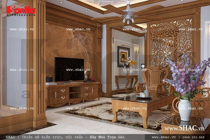 Thiết kế phòng khách nhà phố sang trọng sh nop 0088