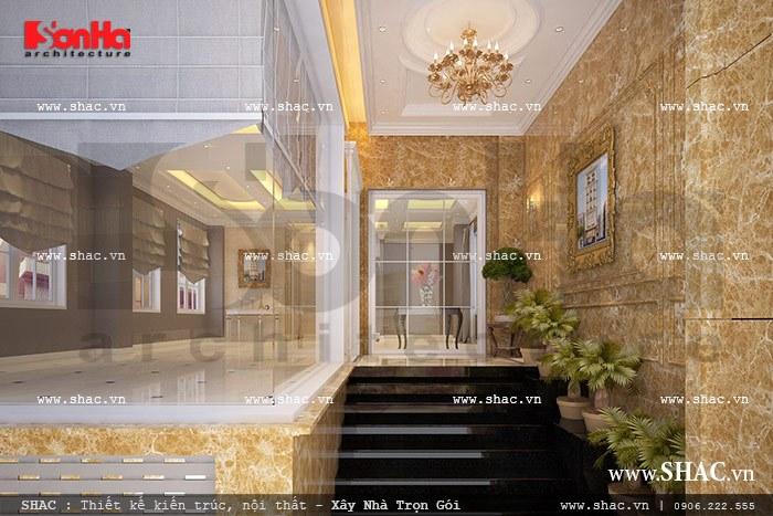 Thiết kế tòa nhà kiến trúc sang trọng sh vp 0019