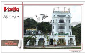 1 Ảnh công trình thực tế kiến trúc nhà hàng cổ điển Pháp tại Quảng Ninh sh bck 0035