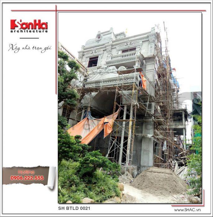 Công trình biệt thự lâu đài tại Hà Nội được SHAC xây nhà trọn gói - SH BTLD 0021