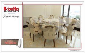 10 Ảnh nộ thất thực tế phòng ăn nhà hàng cổ điển Pháp tại Quảng Ninh sh bck 0035