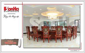Ảnh thực tế phòng ăn lớp VIP nhà hàng cổ điển Pháp tại Quảng Ninh sh bck 0035
