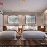 Thiết kế nội thất phòng ngủ 2 giường VIP 201 khách sạn 5 sao tại Phú Quốc sh ks 0023