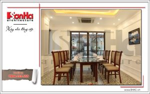 14 Ảnh nộ thất thực tế phòng ăn nhà hàng cổ điển Pháp tại Quảng Ninh sh bck 0035