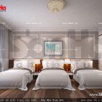 Thiết kế nội thất phòng ngủ 3 giường khách sạn 5 sao tại Phú Quốc sh ks 0023