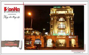 16 Ảnh công trình thực tế kiến trúc nhà hàng cổ điển Pháp tại Quảng Ninh sh bck 0035