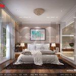 Thiết kế nội thất phòng ngủ 1 giường khách sạn 5 sao tại Phú Quốc sh ks 0023