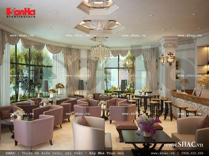 Thiết kế nội thất quán cafe khách sạn 5 sao tại Phú Quốc sh ks 0023