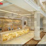 Thiết kế nội thất quầy lễ tân khách sạn 5 sao tại Phú Quốc sh ks 0023