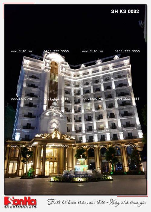 2 Ảnh thực tế ban đêm kiến trúc khách sạn 5 sao tại phú quốc sh ks 0023