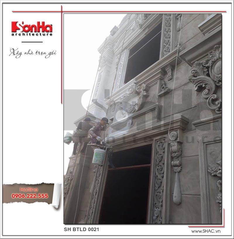 Mẫu biệt thự cổ điển 4 tầng kiểu Pháp sang trọng – SH BTLD 0021 39