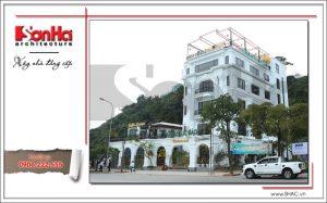 3 Ảnh công trình thực tế kiến trúc nhà hàng cổ điển Pháp tại Quảng Ninh sh bck 0035