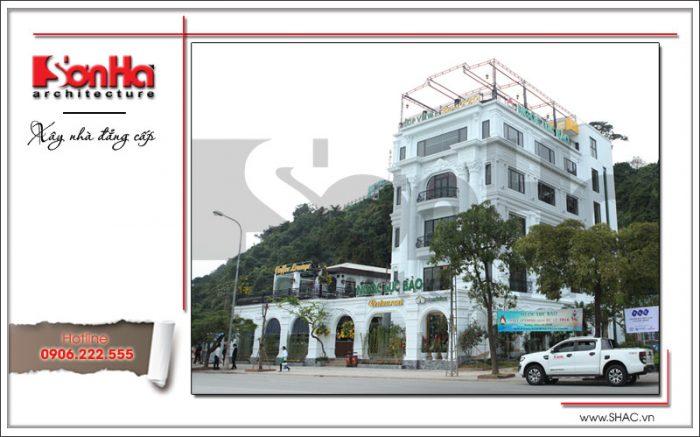 Thi công nhà hàng kiến trúc cổ điển châu Âu tại Quảng Ninh thiết kế đẹp và sang trọng
